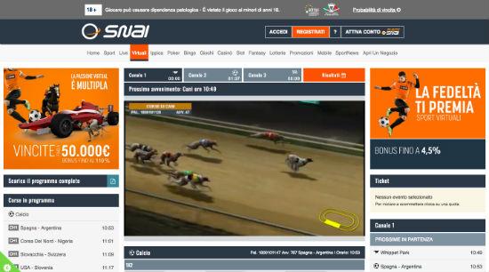 snai sport virtuali